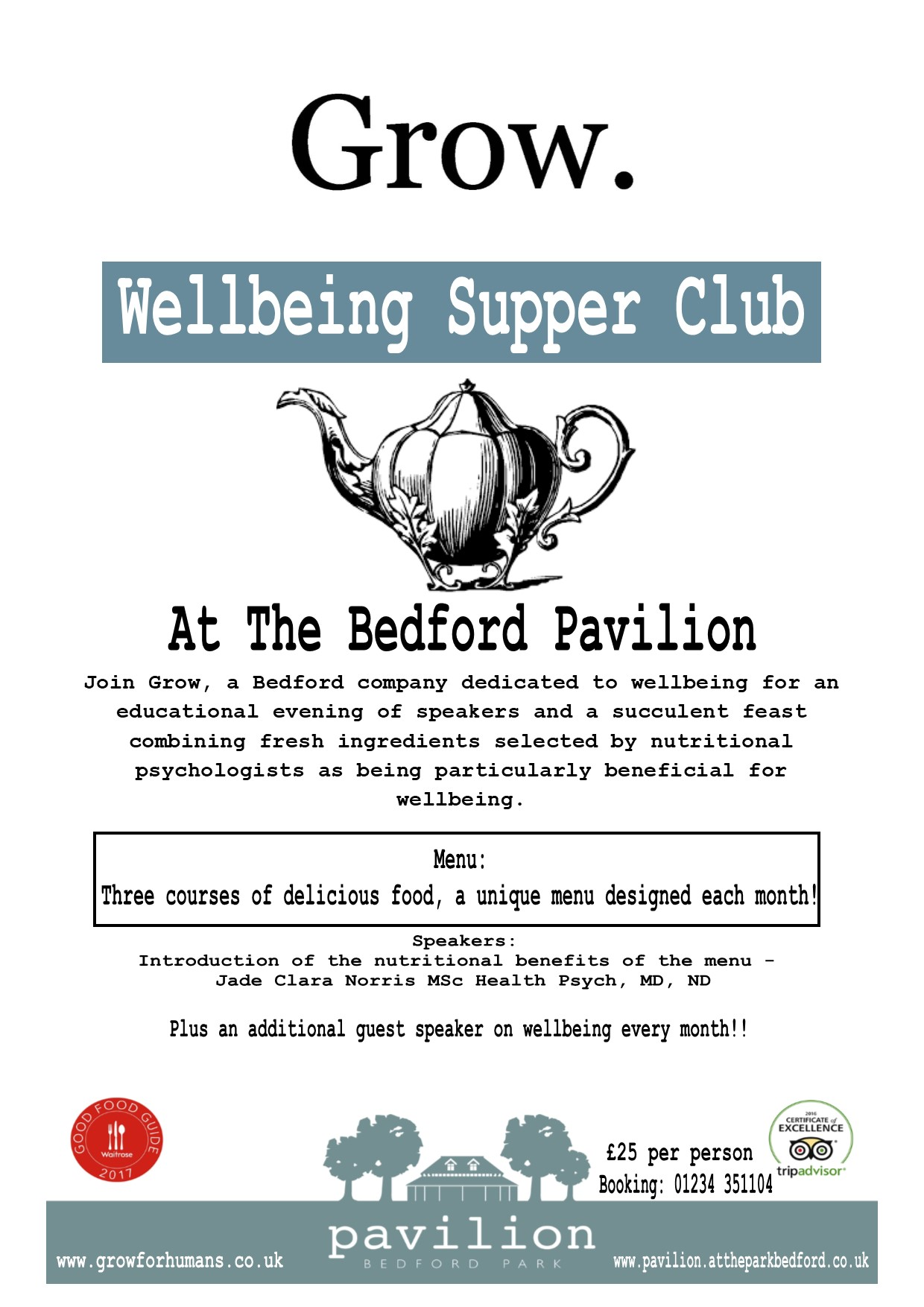 Bedford Wellbeing Supper Club
